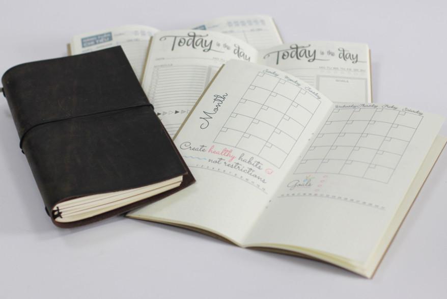 Ruột sổ Planner có nhiều định dạng