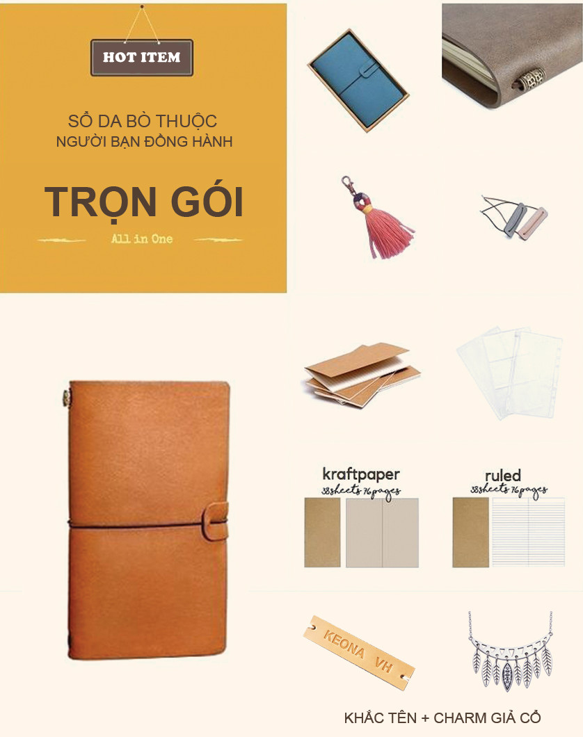 Sổ Midori Traveler's Notebook size tiêu chuẩn 2