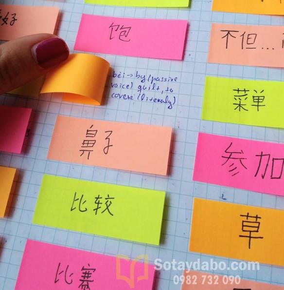 Sử dụng sticky để học từ mới